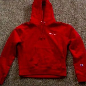 Youth red champion sweatshirt